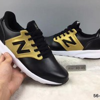 DCCK8NT cxon new balance nb421 leather shoes black golden for women men running sport casual shoes sneakers