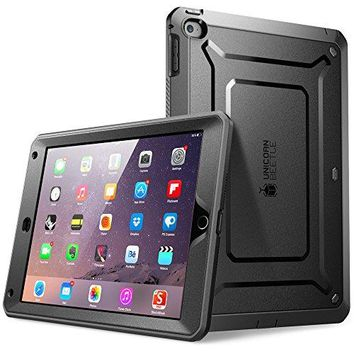 iPad Air 2 Case, SUPCASE Apple iPad Air 2 Case [2nd Generation] 2014 Release [Unicorn Beetle PRO Series] Full-body Rugged Hybrid Protective Case Cover with Built-in Screen Protector, Black/Black