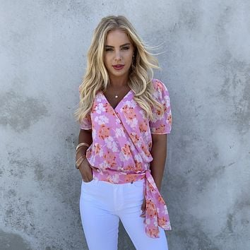 Caught In The Moment Floral Blouse