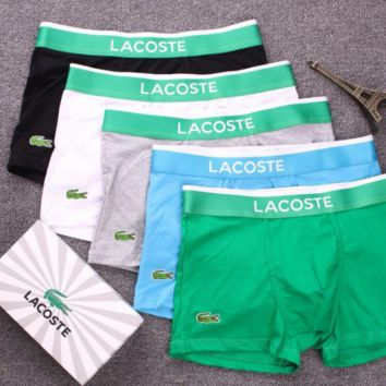 LACOSTE 2018 new cotton men's trend breathable boxer briefs F0748-1