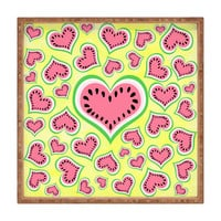Lisa Argyropoulos Watermelon Love Sunny Yellow Square Tray