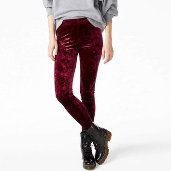 DCCKO03T Women Crushed Velvet Legging High Elastic Waist Velvet Legging many colors for you!!