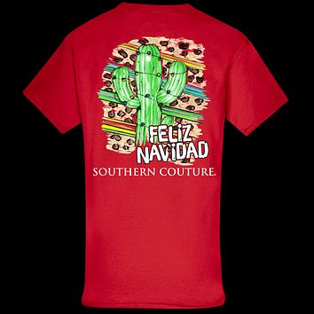 Southern Couture Classic Feliz Navidad Holiday T-Shirt