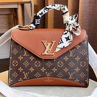 LV New fashion monogram leather shoulder bag crossbody bag handbag Brown