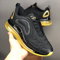 Nike Air Max 720 Black Yellow Running Shoes - Best Deal Online