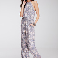 Abstract Paisley Print Jumpsuit