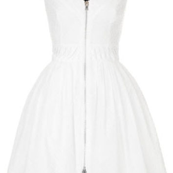 **Zip Front Cotton Dobby Sundress by Kate Moss for Topshop - White