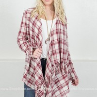 Fall Barn Plaid Cardigan