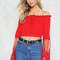 Don't Mesh With the Best Off-the-Shoulder Top