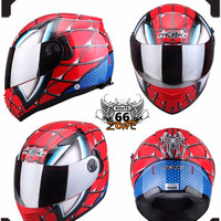 Spiderman Kids Motorcycle DOT Approved Full Face Helmet - 3 Colors