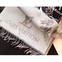 Inseva LV Louis Vuitton High Quality cashmere logo fringed women's shawl scarf