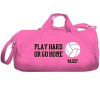 Play Hard Volleyball Bag: Custom Liberty Bags Barrel Duffel Bag: Clothing