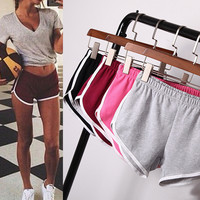 Sports Pants Jogging Home Gym Stretch Ladies Shorts [10604230287]