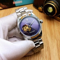 KUYOU R001 Rolex Oyster Perpetual Simplicity Gourd Type Mens Mechanical Watch Purple