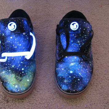 Galaxy Shoes // DVS // Glow in the Dark and Blacklight (UV Reactive) Mens & Womes's sizes :D