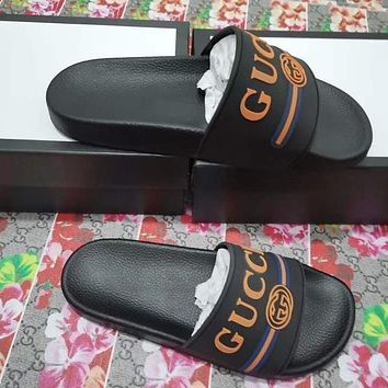 GUCCI summer new anti-skid outdoor beach sandals shoes