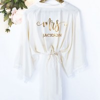 Mrs. Robe - Personalized Bride Robe