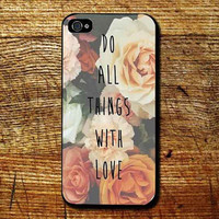 Stylish Vintage Floral Print  customized for iphone 4/4s/5/5s/5c ,samsung galaxy s3/s4/s5 and ipod 4/5 cases