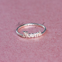 Vintage Jewelry - Name Ring - Anniversary Gift  - Sterling Silver
