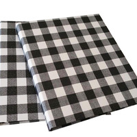 Set of 2 - 3 Ring fabric Binder- Daily planners Organizers - Gingham Design