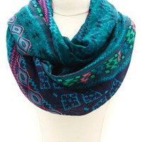 Tribal Print Infinity Scarf by Charlotte Russe - Multi
