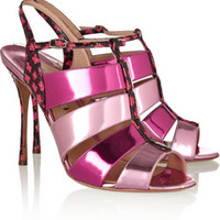 Nicholas Kirkwood Elaphe and patent-leather sandals – 62% at THE OUTNET.COM