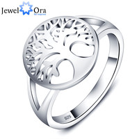Tree of Life Classic Accessories 925 Sterling Silver Rings For Women New 2015 (JewelOra RI101725)