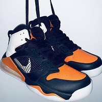 Nike Air Jordan Mars 270 Trending Men Leisure Basketball Sneakers Sport Shoes Black&Orange&White