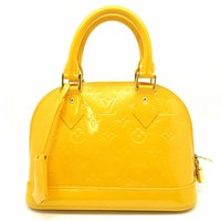 Louis Vuitton Vernis Alma BB Satchel Bag Orange-Ish Yellow
