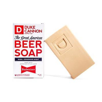Duke Cannon | Great American Beer Soap -- Made with Budweiser