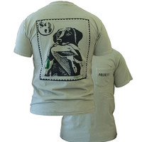 SALE Southern Couture High Priority Lab Dog Mallard Duck Stamp Country Pocket Unisex Bright T Shirt