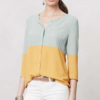 Anthropologie - Colorblocked Ione Buttondown