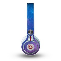 The Blue & Purple Pastel Skin for the Beats by Dre Mixr Headphones