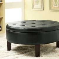 Coaster Storage Ottoman-Dark Brown
