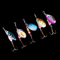 hot sale 5pcs Spinner Fishing Lures Fishing spinner Tackle paillette spoon Lures Mix Color/size