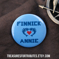 Finnick loves Annie Hunger Games Pin by TreasuresForTributes