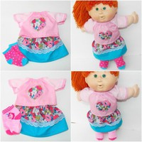 Clothes Pink Heart Blouse Skirt Socks polka dot Handmade For Cabbage Patch Doll