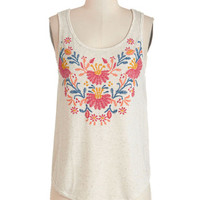 ModCloth Boho Mid-length Sleeveless Appellation Mountains Tank