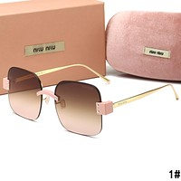 MIU MIU Summer Newest Women Men Sun Shades Eyeglasses Glasses Sunglasses 1#