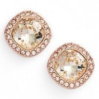 Women's Givenchy 'Legacy' Stud Earrings - Rose Gold/ Silk