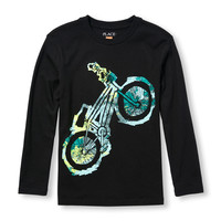 Boys Long Sleeve Bike Graphic Tee | The Children's Place