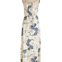 ModCloth Boho Long Spaghetti Straps Maxi Be Peaceful Dress in Parchment