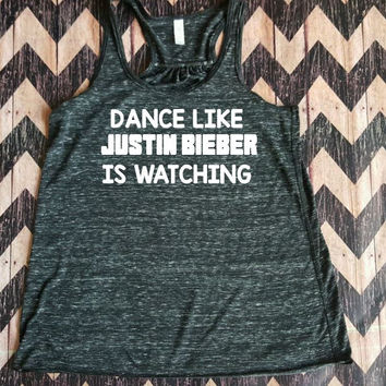 Flowy Racerback Work Out Tank Dance Like Justin Bieber Is Watching