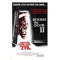 """BEYOND THE DOOR II HORROR POSTER """"new look for face of evil"""" 24X36"""