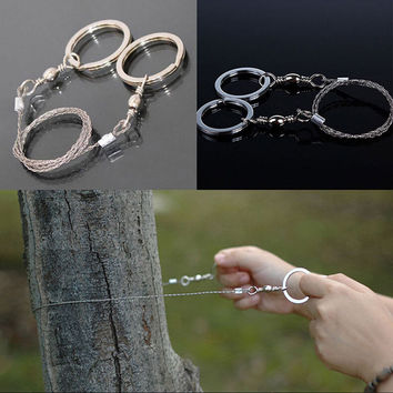 Emergency Survival Gear Steel Wire Saw Camping Hiking Hunting Climbing Gear