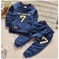 Brand SK 2-6 Autumn Children Clothing Sets Boys Girls Warm Long Sleeve Sweaters+Pants Fashion Kids Clothes Sports Suit for Girls