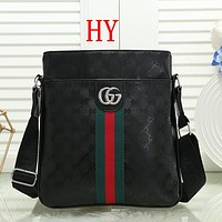 Men Fashion Leather Crossbody Satchel Shoulder Bag