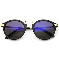 Celebrity Super Model Horned Rim Sunglasses 8591