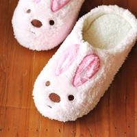 Super Comfy Bunny Rabbit Animal Shaped Slip-On At Home Slippers for Women