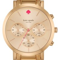 Women's kate spade new york 'gramercy grand' chronograph bracelet watch, 38mm